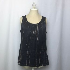Chico's Tank Top with Silk Front (Size:1)